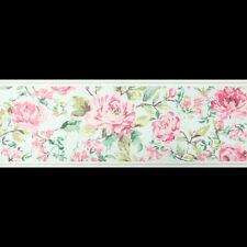 Duck egg & Pink, Floral Design, Wallpaper Border 45
