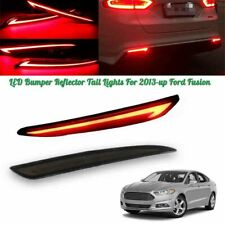 For 2014-16 Ford Fusion Mondeo Smoke Lens LED Rear Bumper Reflector Tail Lights