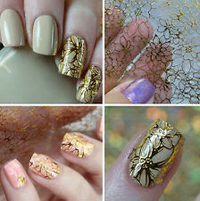 1 Sheet Flower 3D Nail Art Stickers Decals Manicure Gold/Silver Decoration Tips