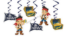 Jake And The Never Land Pirates Party 6x Hanging Swirl Swirling Decorations Boy