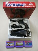 Wild Gunman fc Famicom NES gun controller rare game. box tasted Nintendo Japan