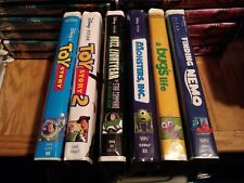 Lot of 6 Disney Pixar VHS Toy Story 1 2 Buzz Bugs Life Monsters Inc Finding Nemo