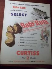 1951 VINTAGE AD CURTISS BABY RUTH CHOCOLATE CANDY BAR 10X13 GRADED LIKE EGGS