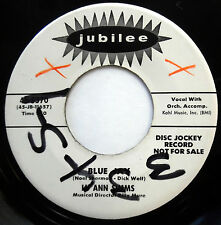 LU ANN SIMMS 45 Blue Jay / Image Of You PROMO Teen R&B Bopper 1959 JUBILEE e4641
