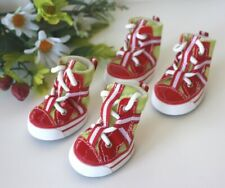 USA SELLER Dog Puppy Fashion SET of 4 Shoes Boots Mesh Sneakers Red size #1 - #5