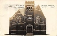 Indiana IN Postcard Real Photo RPPC 1912 INDIANA HARBOR First ME Church