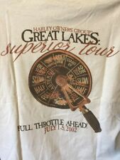 HARLEY-DAVIDSON Owners Group Great Lakes Superior Tour 2002 T-SHIRT, Sz L