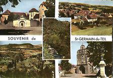 SAINT-GERMAIN-DU-TEIL CARTE POSTALE VUES DIVERSES 1971