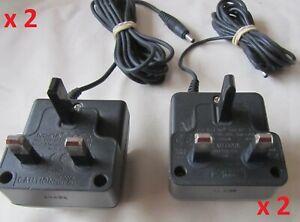 2 x ORIGINAL NOKIA 3-PIN UK MAINS CHARGER ACP-7X - 3510,3310,5110,7110 ETC.