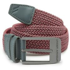 UNDER ARMOUR MENS BRAIDED 2.0 STRETCH WOVEN GOLF BELT, SIZE 30, PITCH GRAY