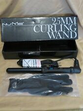 New NuMe 25mm Black Curling Wand Tourmaline Curler Styling Iron with Glove