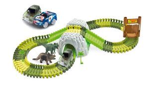 Rennbahn Magic Traxx Dino-Park mit Tunnel 374-teilig,Mega Set