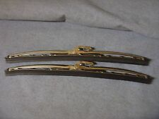 "NEW MORRIS MINOR  STAINLESS 11"" WIPER BLADE PAIR 1956 - 1971"
