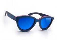 Occhiali da sole da donna specchio con lenti in multicolore 100% UV400
