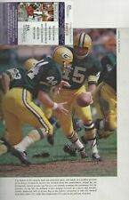 Bart Starr Autographed Green Bay Packers Football HOFer 8x10 Magazine Pcture JSA