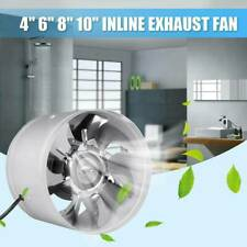 """4"""" 6"""" Hydroponic Exhaust Vent Fan Inline Duct Blower Grow Tent Ventilation New"""