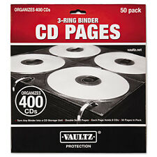 Vaultz Idevz01415 Two-Sided Cd Refill Pages For Three-Ring Binder- 50/pack