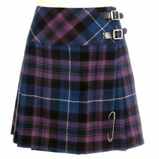 Scottish Ladies Mini Pride Of Scotland Tartan Kilt/Women Skirt 16' long Kilt pin