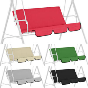 Replacement Swing Seat Covers Spare Garden Waterproof Chair Cushion Pad 3 Seater