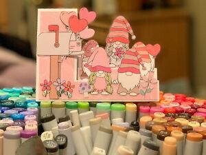 handmade Card Kit Stampin' Up! Valentine Gnomes  Step Card