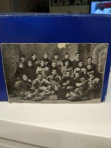 Vintage original early 1900's football team photo ANTIQUE