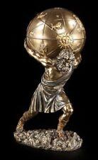 Atlas figura con Globo Terráqueo para abrir - Veronese estatua griego Diós