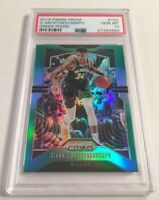 2019-20 Panini Prizm #152 Giannis Antetokounmpo GREEN SP Bucks PSA 10 GEM MINT