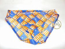 Vintage 80 70 SENZA MARCA Slip S Trunks Costume Mare Shorts Uomo Beach Arancione