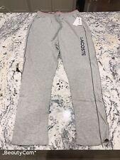 Lacoste Men's Lounge Sleepwear Pants Joggers Size M Grey