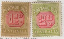 Australia,Scott#J52-J53,M h