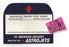 "Peggy Conklin ""MR. and MRS. NORTH"" Owen Davis Jr. 1941 Envelope and Ticket Stub"