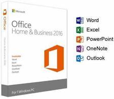 Microsoft Office Home and Business 2016 licencia llave de activación de por vida ✔