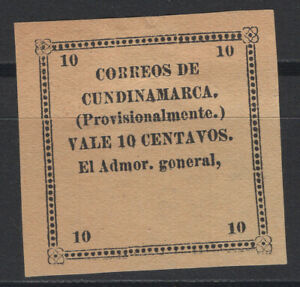 Colombia Cundinamarca 1883 Sc. 13 without signature 10c brown- yellow MNG