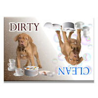 DOGUE De BORDEAUX Clean Dirty DISHWASHER MAGNET