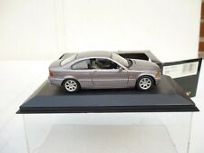 1:43 MINICHAMPS BMW 318 CI  COUPE 1999 SILVER/ PURPLE Very Near MINT BOXED