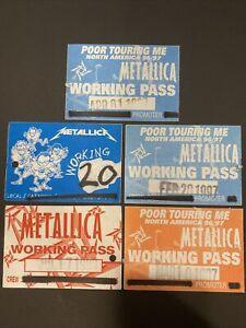 Metallica Backstage Passes