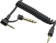 Recambio aux audio estéreo cable para Monster Beats Detox, pro auriculares 3,5mm 6,5mm