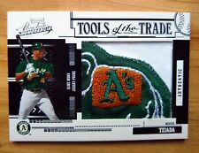 2005 PLAYOFF ABSOLUTE MIGUEL TEJADA TOOLS OF THE TRADE LOGO JERSEY PATCH 4/10 SP