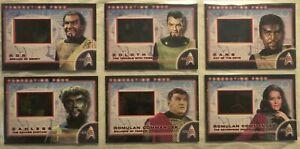 Star Trek The Original Series 35th Anniversary Federation Foes insert set FF1-6