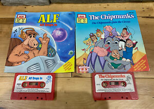 Vintage Alvin Chipmunks Join Circus & Alf Drops In Read-Along Book and Tape