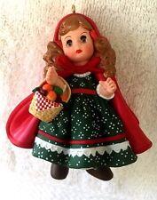 Hallmark Collectible Ornament-Madame Alexander-Little Red Riding Hood-#2 1991