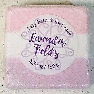 Fizzy Bath & Foot Soak, LAVENDER FIELDS, 5.29 oz