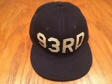 POLO RALPH LAUREN RRL NAVAL CAPTAIN 6 PANEL 93RD LEATHER SWEATBAND WOOL L/XL HAT