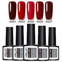 LEMOOC 5 Bottles 8ml Nagel Gellack Soak off Nail Art Nagellack Gel UV Rot Lot