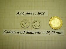 LOT DE 2 CADRANS RONDS VINTAGES NEUFS DE STOCK POUR CALIBRE A.SCHILD  AS 1012