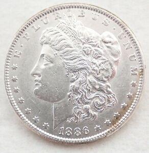 Antique 1886 Morgan 90% Silver Dollar Coin