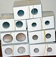"""Mixed Lot 200 Pcs 2"""" X 2"""" Cardboard Coin Flips/Holders ( 7 Sizes )"""