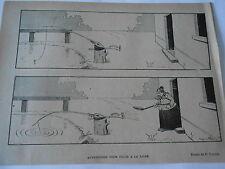 1897  Caricature Print Avertisseur pour pêche à la Ligne Benjamain Rabier