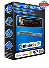 Mercedes C Class DEH-3900BT car radio, USB CD MP3 AUX In Bluetooth kit