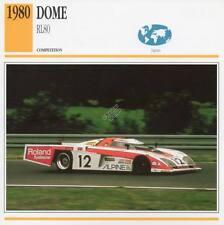 1980 DOME RL80 Racing Classic Car Photo/Info Maxi Card